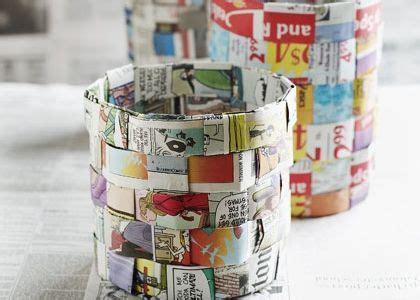 Waste Paper And Craft - diy waste basket paper weave this diy waste basket