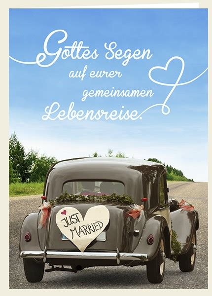 Just Married Auto Karte by Doppelkarte Just Married Lebensreise Auto