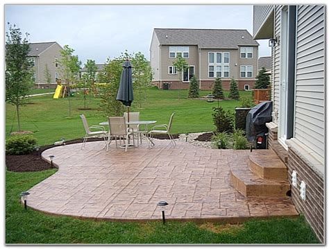 concrete backyard design sted concrete patio designs color patios home