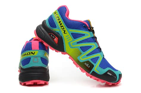 best hiking running shoes top quality salomon speedcross 3 cs trail blue green black