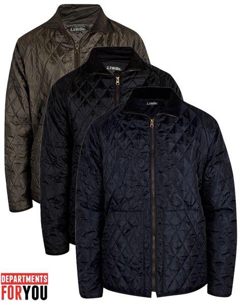 Designer Quilted Coats by Mens Jj Willis Quilted Jacket Designer Padded Warm
