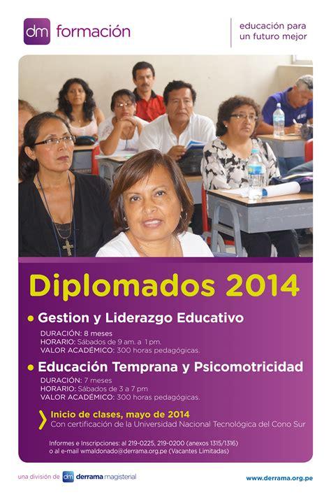 dm formacin equipo de capacitacin docente de derrama magisterial dm formaci 243 n convoca a sus diplomados para mayo de 2014