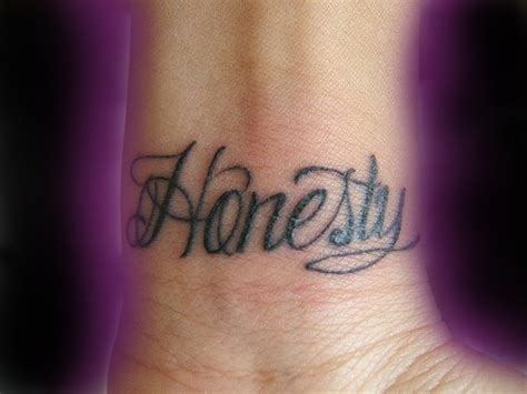 honesty tattoo designs honesty wrist