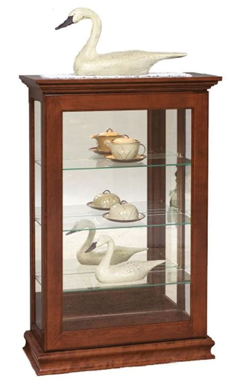 Small Curio Cabinets With Glass Doors by Small Sliding Door Console Curio Cabinet From