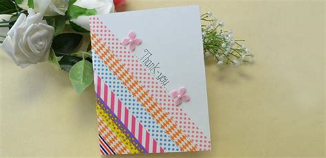 how to make a thank you card washi thank you card family crafts