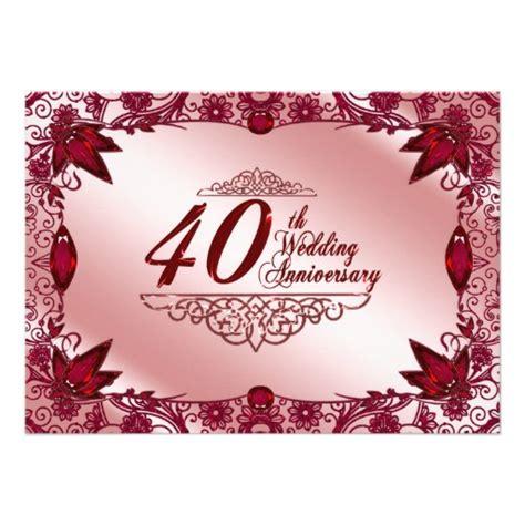 40th anniversary invitations quotes