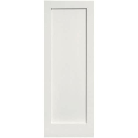 Masonite 24 In X 80 In Mdf Series Smooth 1 Panel Solid Mdf Interior Door