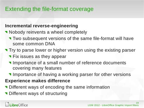 file format reverse engineering import filters for vector graphic formats in libreoffice