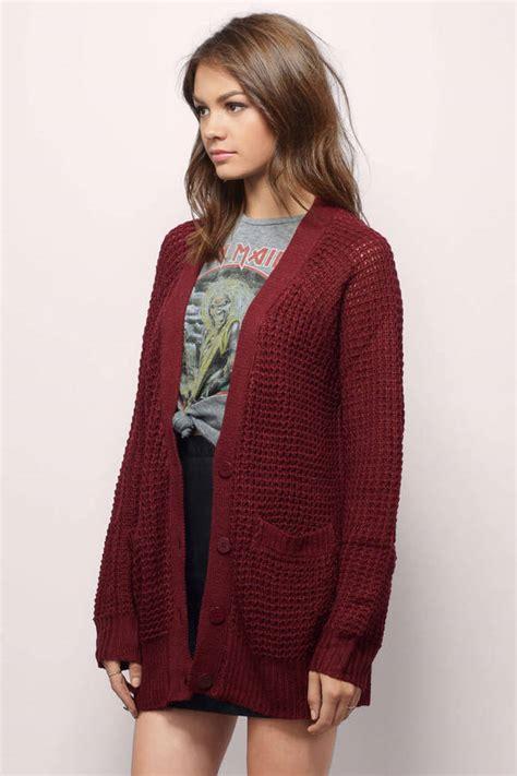 burgundy knit cardigan burgundy cardigan cardigan button up cardigan 10 00