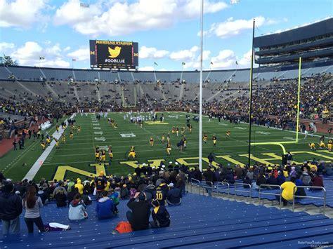 student section at michigan stadium endzone michigan stadium football seating