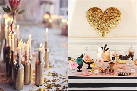 wedding decor 10 gorgeous gold diy ideas weddingsonline