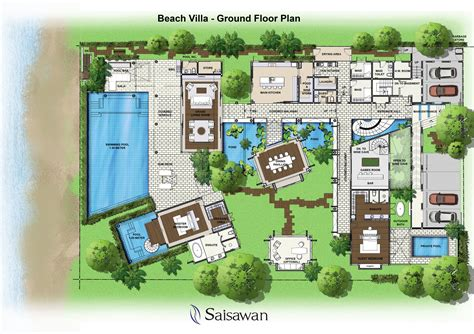 Villa Floor Plan luxury home plans interior desig ideas saisawan beach