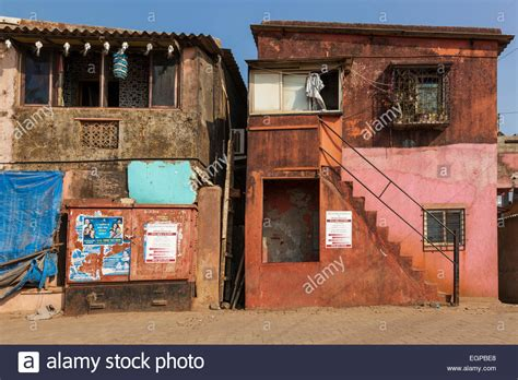 buying houses in india colourful houses in worli fishing village mumbai india stock photo royalty free