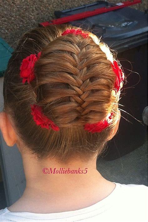 dance small bun with braid hairpiece love this fishtail braided bun by molliebanks5 dance