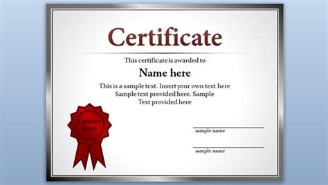 free editable certificates templates free certificate template for powerpoint 2010 2013
