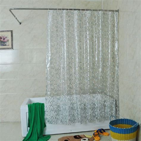 shower curtain with clear window mylifeunit solid square clear shower curtain 72 x 72 inch