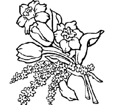 disegni di mazzi di fiori disegno di mazzo di fiori da colorare acolore