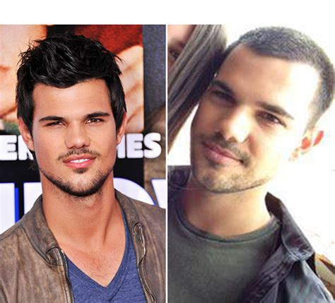 how to style my hair like taylor lautner taylor lautner s haircut shows off short buzz cut in fan