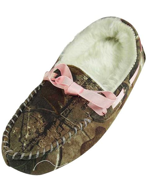 realtree camo slippers realtree camo moccasin slipper brown footwear