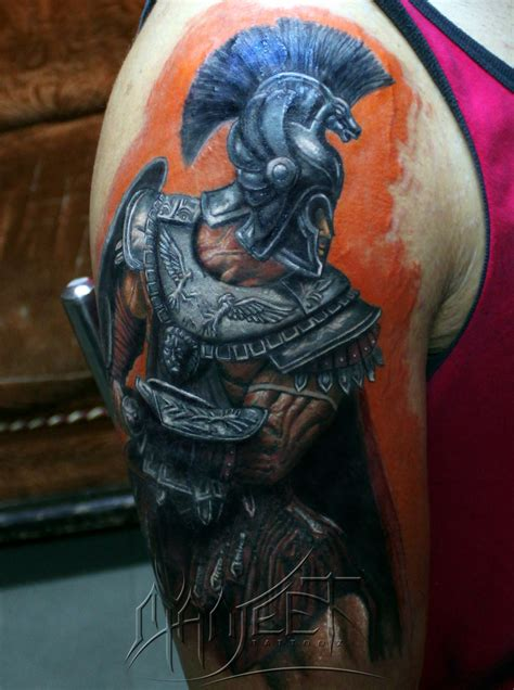 roman soldier tattoo top 15 arm tattoos for amazing ideas