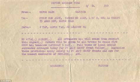 On Order May 8 by Allied Cease Order Following In