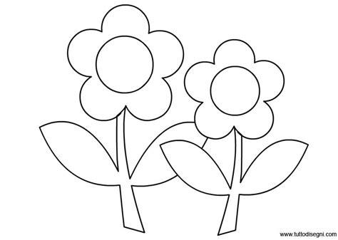 fiori da colorare fiori con foglie da colorare tuttodisegni