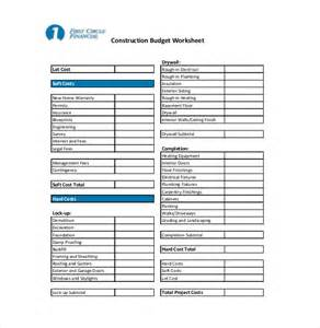 Residential Construction Budget Template 10 Construction Budget Templates Free Sample Example
