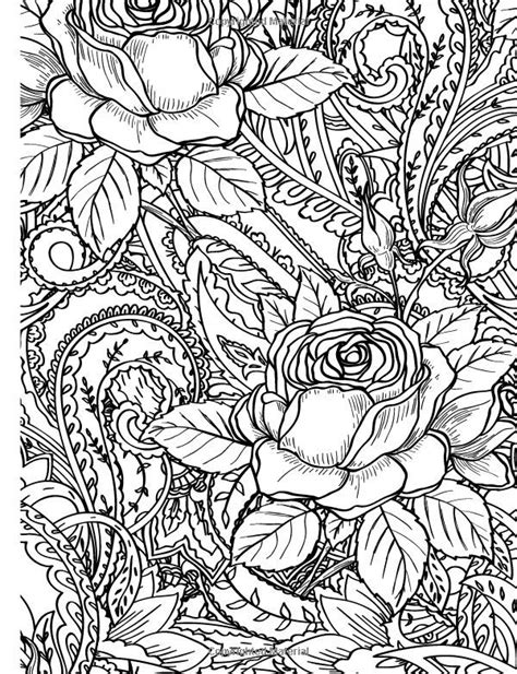 Rose Coloring Page For Adults | 271 best rose art coloring pages images on pinterest