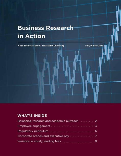 Mays Mba Cost by Business Research In Fall 2014 By Mays Business