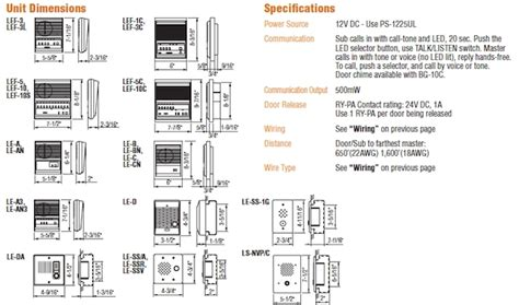 aiphone lef 3l wiring diagram wiring diagram and