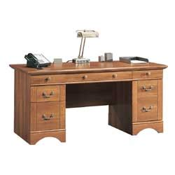 Sauder Willow Falls Executive Desk 30 14 H X 65 12 W X 29 Office Depot Executive Desk