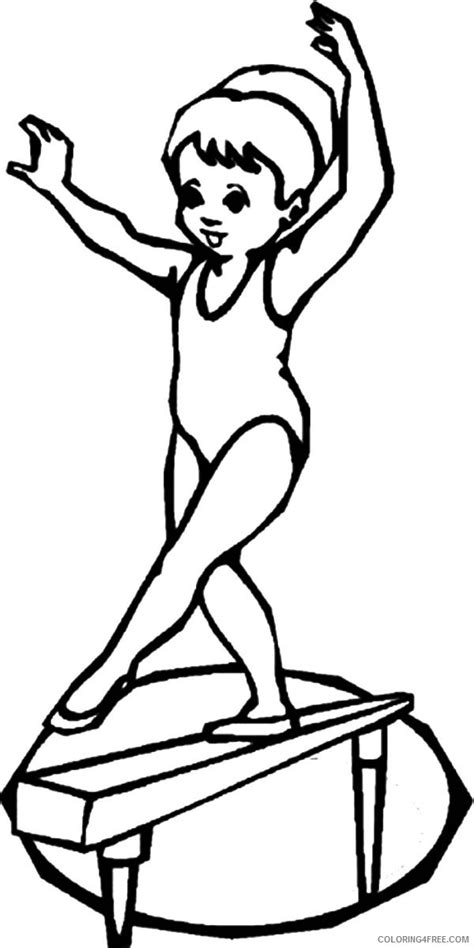 gymnastics coloring pages beam fine gymnastics coloring pages for girls photos resume