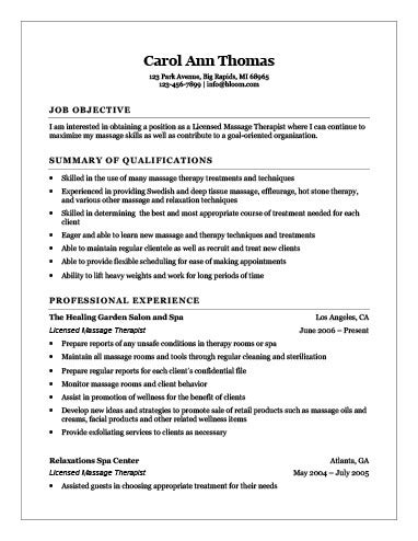 Hloom Resume 18 free massage therapist resume templates