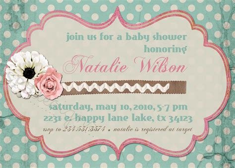 Free Shabby Chic Baby Shower Invitations by Template Free Shabby Chic Baby Shower Invitation