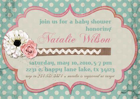 shabby chic invites shabby chic baby or bridal shower invitation
