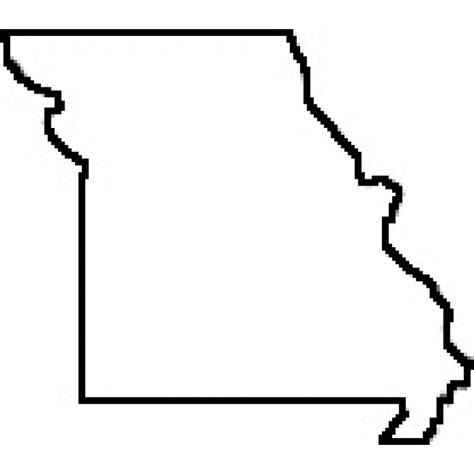 rubber st outline state of missouri outline map rubber st