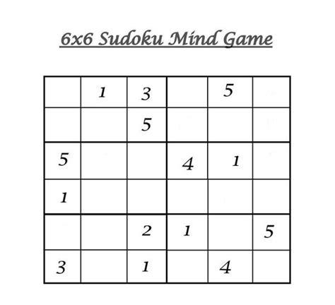 printable sudoku level 6 6x6 sudoku 4