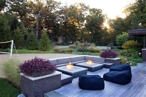 outdoor square shape gas firepits creative fireplaces