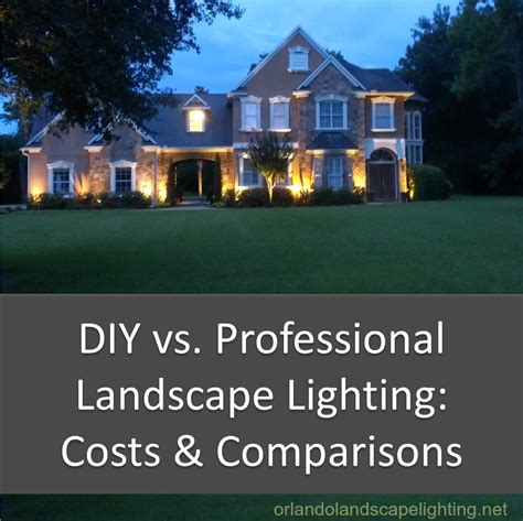 Installing Landscape Lights Diy Vs Professional Landscape Lighting Installation Costs And Comparisons Orlando Landscape