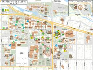 u of oregon map uo cus map my