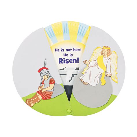 Paper Plate Bible Crafts - paper plate empty reveal craft for easter