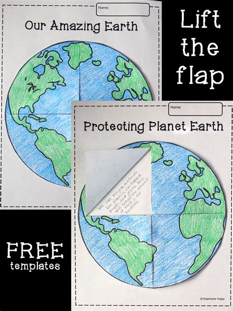 earth template earth lift the flap printable template freebie primary