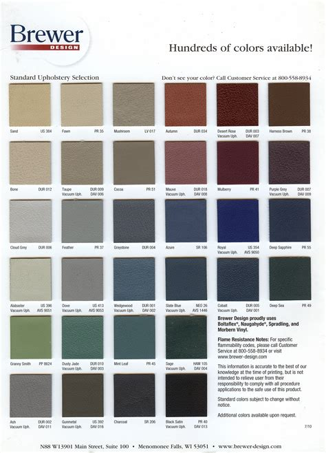 brewers colors current color charts