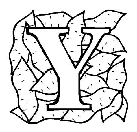 coloring page yam letter y coloring