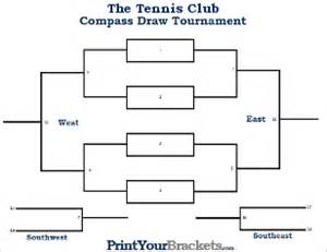 compass draw tournament brackets printable compass draw