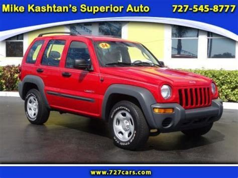 how make cars 2004 jeep liberty parking system buy used 2004 jeep liberty sport in 7290 park blvd pinellas park florida united states for
