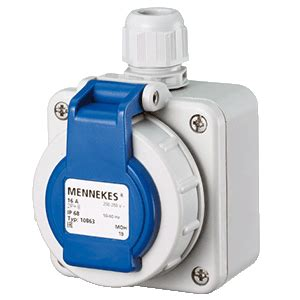 Mennekes Schuko Connectors 10863 mennekes 10863 wall mounted receptacle schuko lingkong
