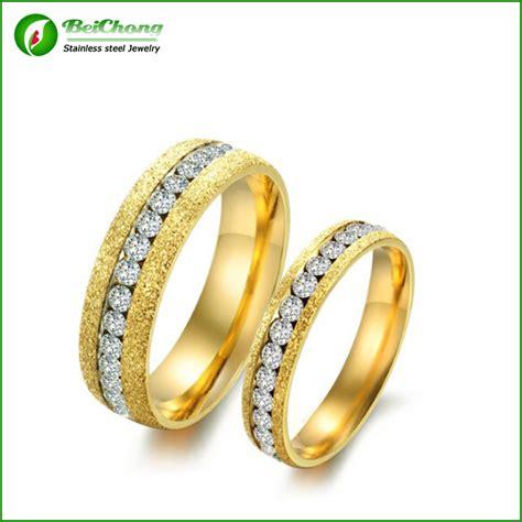 new style personalized scrub matte stainless steel saudi arabia gold wedding ring price j3 0095