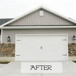 garage door facelift outdoor projects tip junkie