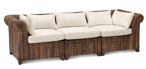 upmarket sofas fun upscale sofas seagrass three piece sofa pottery barn